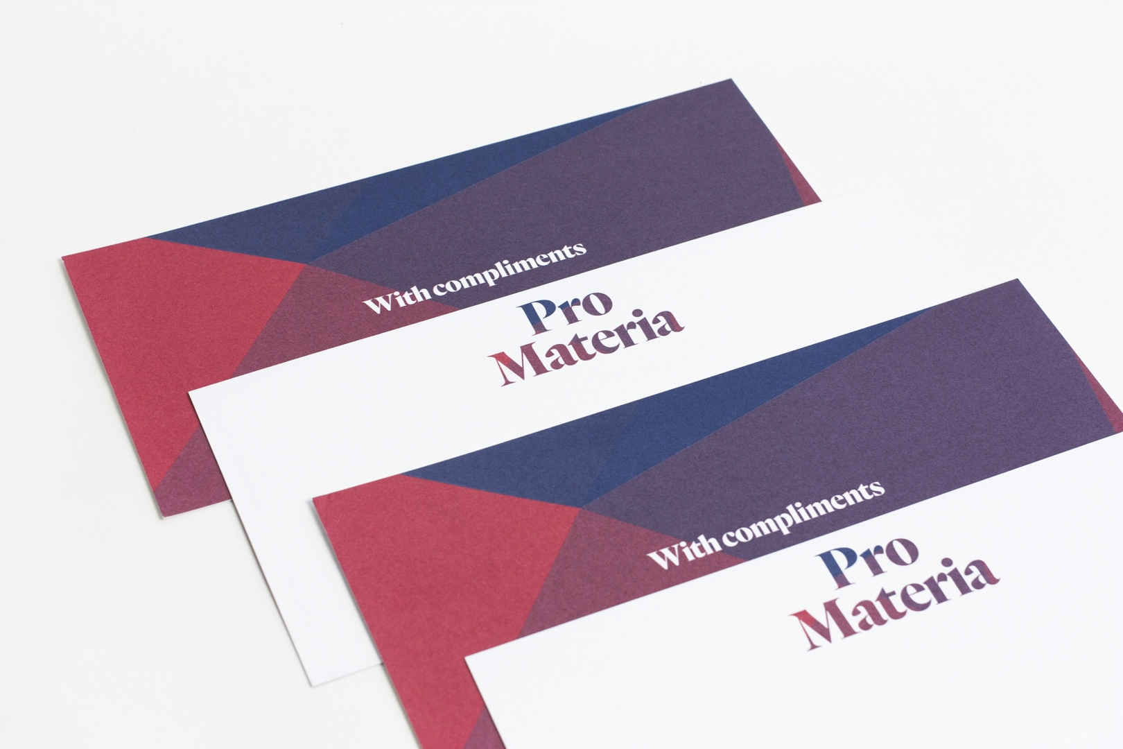 Pro Materia With Compliments cards